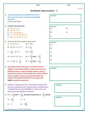 math worksheet : grade 5  free common core math worksheets  biglearners : Math Expressions Grade 5 Worksheets