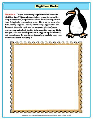 Preview image for worksheet with title Flightless Birds
