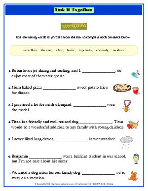 Preview image for worksheet with title Link It Together