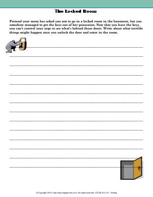 Preview image for worksheet with title The Locked Room