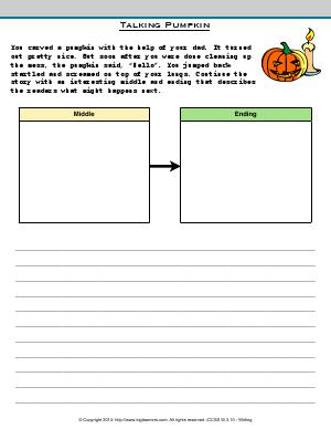 Preview image for worksheet with title Talking Pumpkin