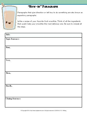"Preview image for worksheet with title ""How-to"" Paragraph"