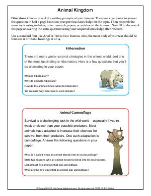 Preview image for worksheet with title Animal Kingdom