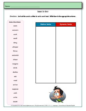 Preview image for worksheet with title Sort It Out