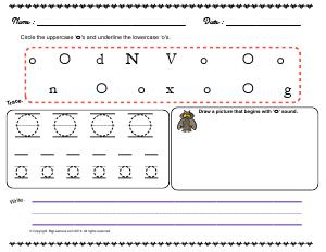 Preview image for worksheet with title Letter 'Oo'