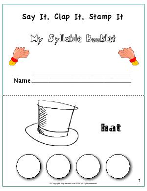 Preview image for worksheet with title Say It, Clap It, Stamp It