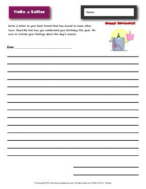 Preview image for worksheet with title Write a Letter