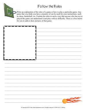 Preview image for worksheet with title Follow the Rules