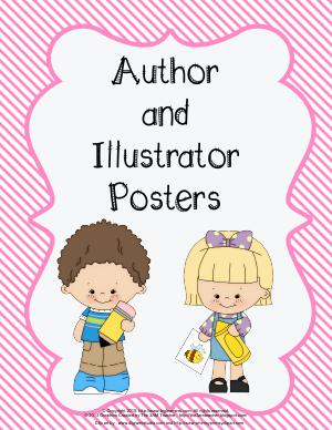 Preview image for worksheet with title Author and Illustrator Posters