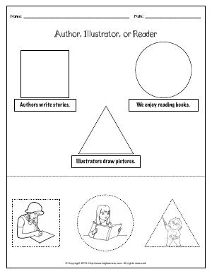Preview image for worksheet with title Author, Illustrator, or Reader