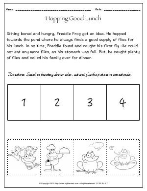 Preview image for worksheet with title Hopping Good Lunch!