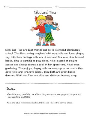 Preview image for worksheet with title Nikki and Tina