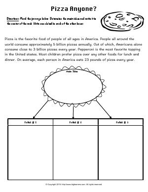 Preview image for worksheet with title Pizza Anyone?