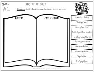 Preview image for worksheet with title Sort it out (Fiction and Non-Fiction)