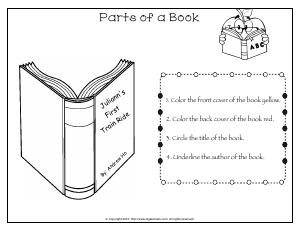 Preview image for worksheet with title Parts of a Book