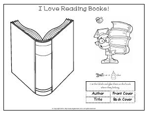 Preview image for worksheet with title I Love Reading Books!
