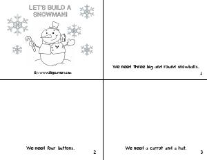 Preview image for worksheet with title Let's Build a Snowman!
