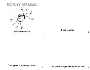 Preview image for worksheet with title Scary Spider