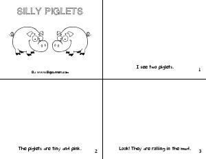 Preview image for worksheet with title Silly Piglets
