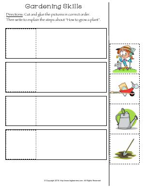 Preview image for worksheet with title Gardening Skills