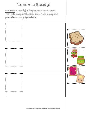 Preview image for worksheet with title Lunch is Ready!