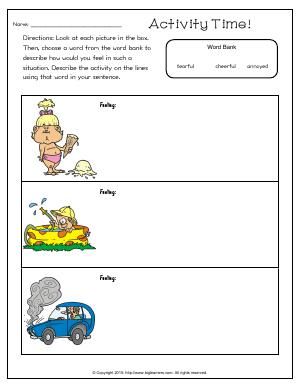 Preview image for worksheet with title Activity Time!