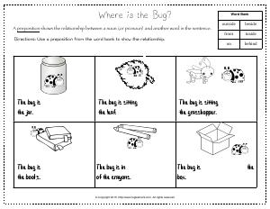Preview image for worksheet with title Where is the Bug?