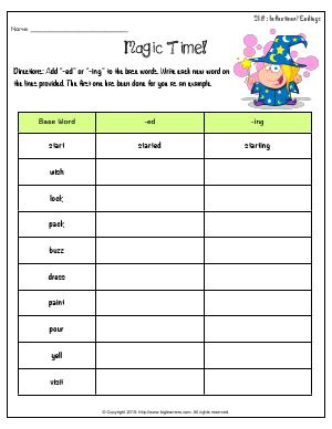 Preview image for worksheet with title Magic Time!