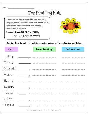 Preview image for worksheet with title The Doubling Rule