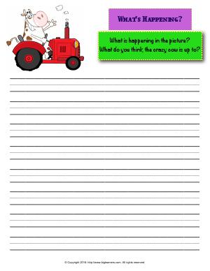 Preview image for worksheet with title What's Happening?