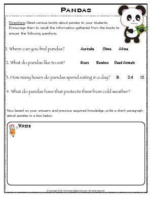 Preview image for worksheet with title Pandas