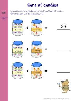 Preview image for worksheet with title Cans of Candies