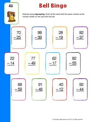 Preview image for worksheet with title Bell Bingo