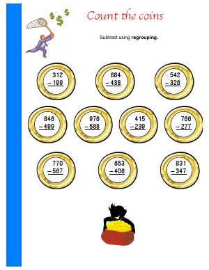 Preview image for worksheet with title Count the Coins