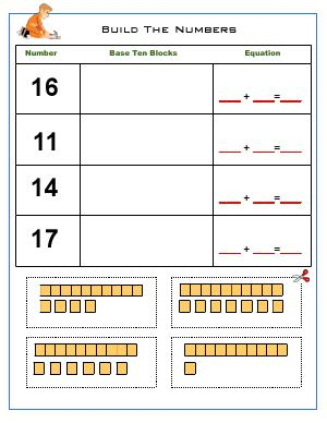 Preview image for worksheet with title Bulid The Numbers
