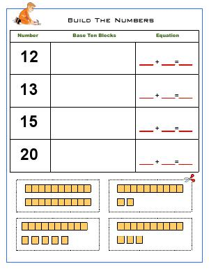 Preview image for worksheet with title Build The Numbers