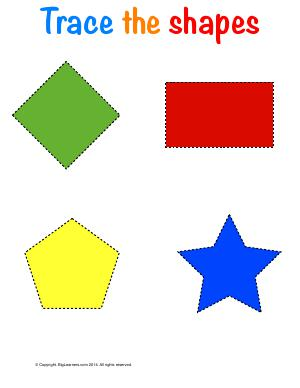 Preview image for worksheet with title Trace the Shapes