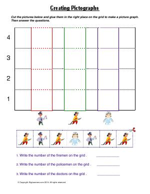 Preview image for worksheet with title Creating Pictographs