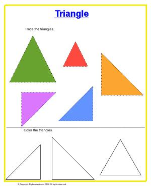 Preview image for worksheet with title Triangle