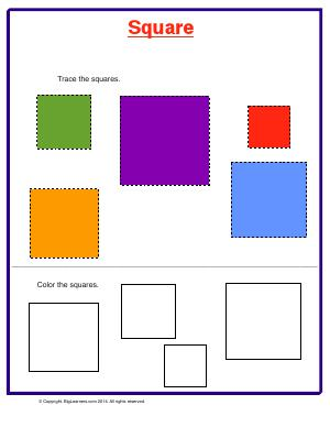 Preview image for worksheet with title Square