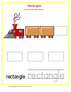 Preview image for worksheet with title Rectangles