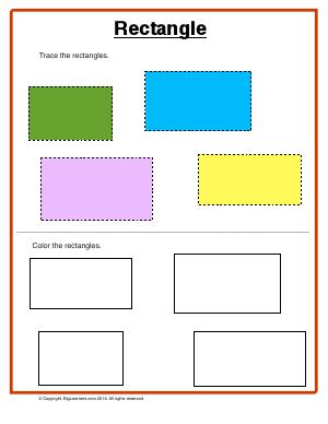 Preview image for worksheet with title Rectangle
