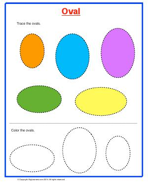 Preview image for worksheet with title Oval