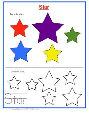 Preview image for worksheet with title Star