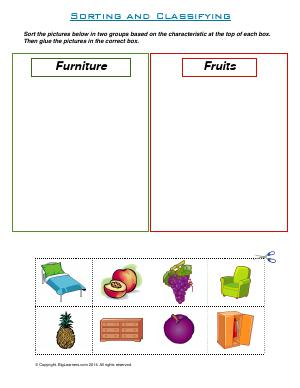 Preview image for worksheet with title Sorting and Classifying