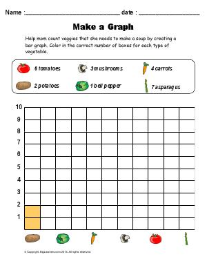 Preview image for worksheet with title Make a Graph